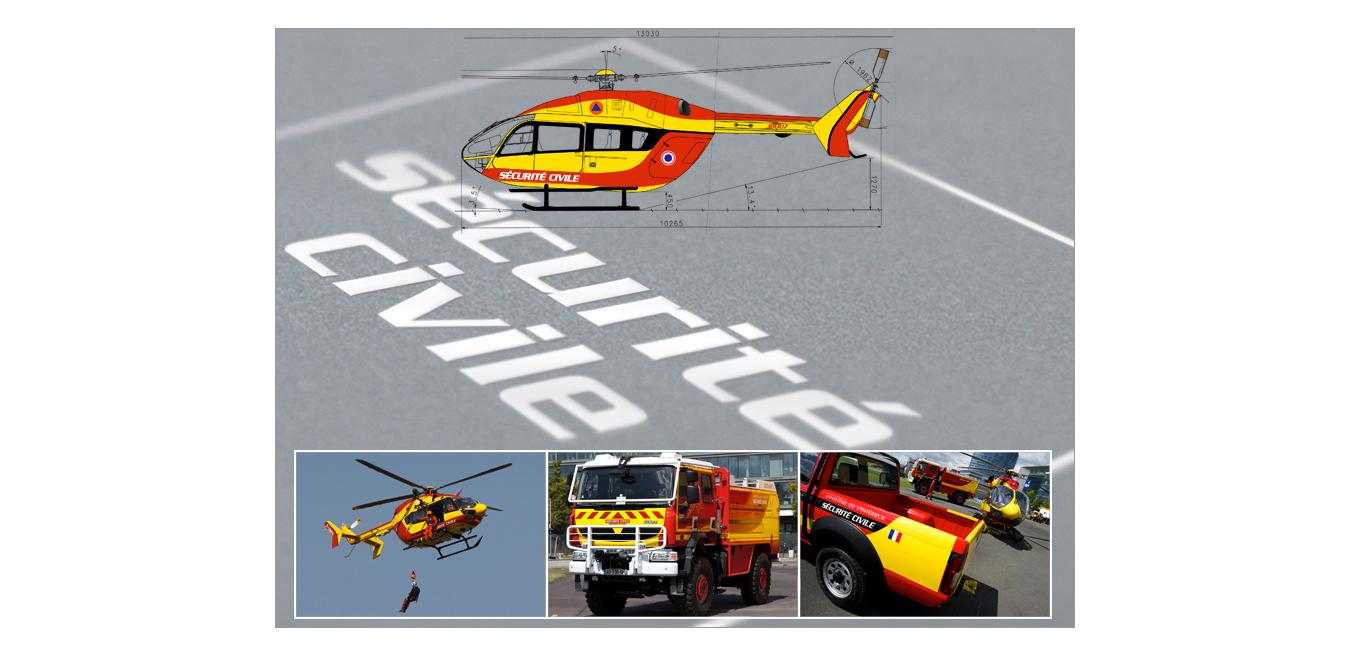 Hélicoptère EC145 Sécurité civile