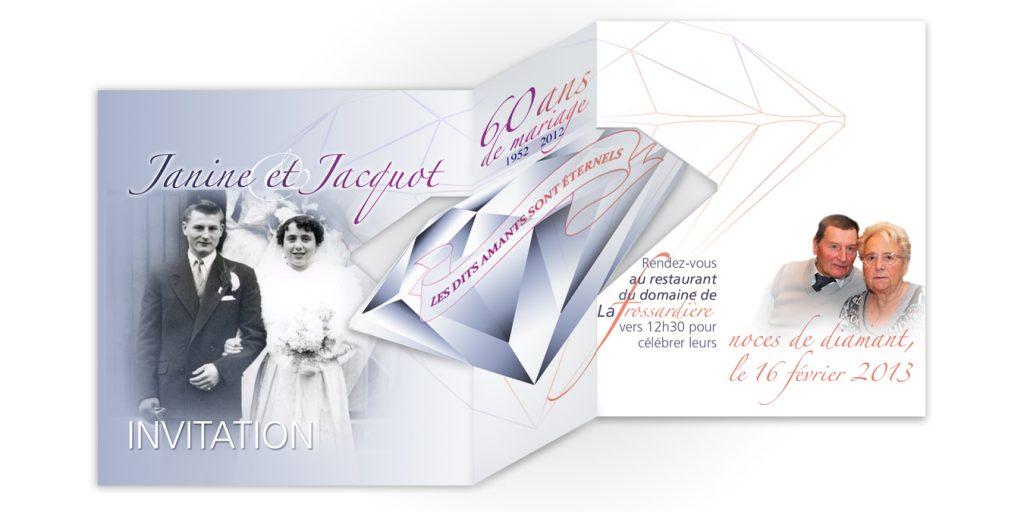 Noces diamant mariage