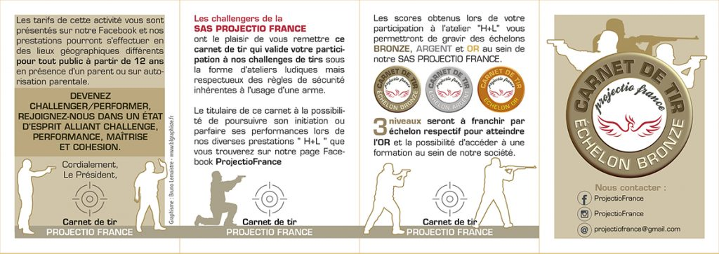 Carnet de tir Projection France bronze